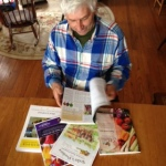 Reading seed catalogs.